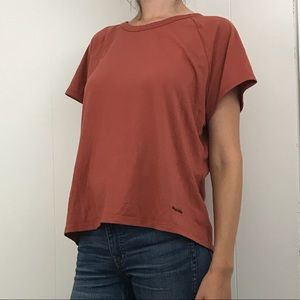 Patagonia rust colored Apilene short sleeve top XL